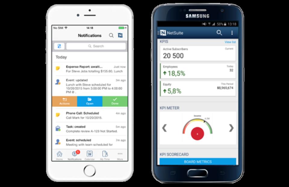 NetSuite in der mobilen App