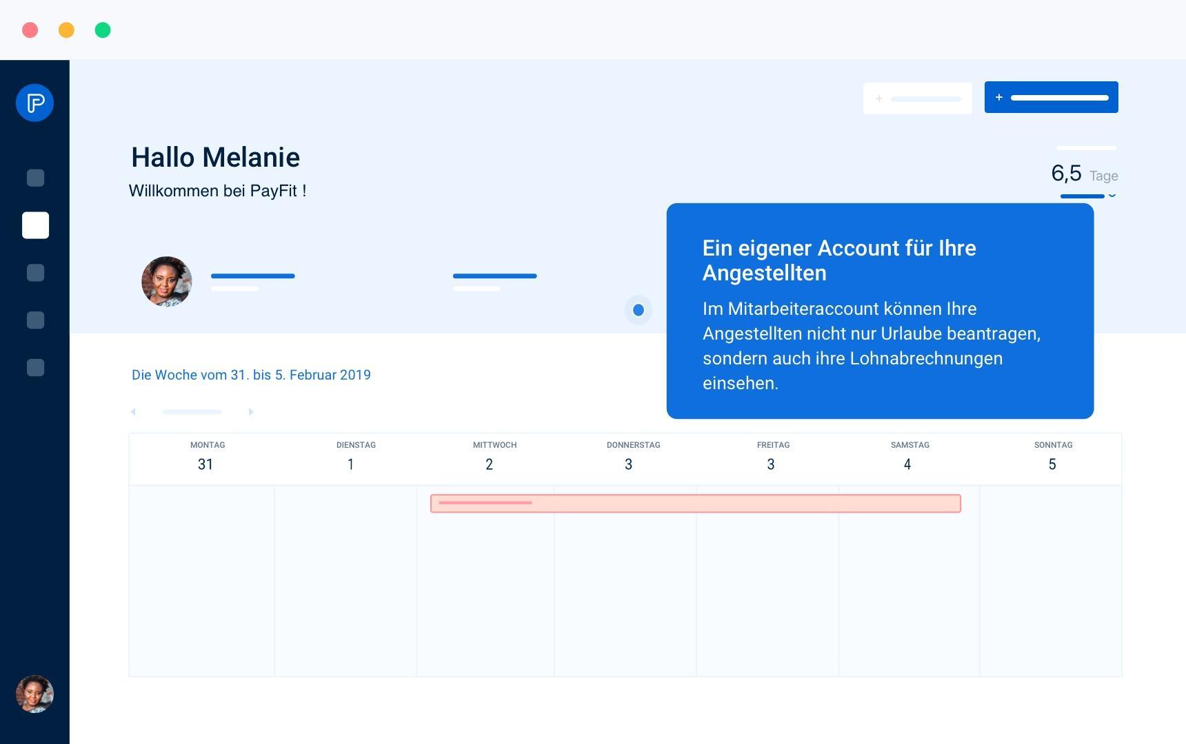Der Mitarbeiter-Account – alles digital!