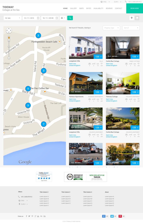 Entwerfen Sie eine professionelle Ferienhaus-Website