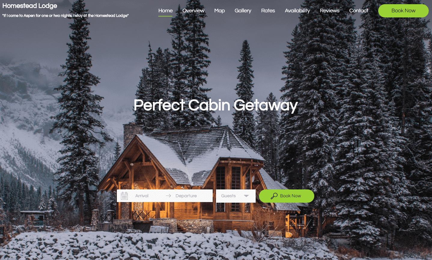 Entwerfen Sie eine professionelle Ferienhaus-Website Buchungssystem
