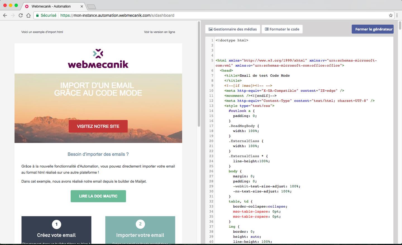 Verlag E-Mail mit der Möglichkeit, HTML-E-Mails zu bearbeiten