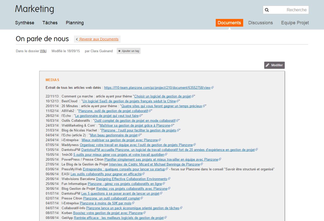 Planzone: Berichte, Online-Schulungen (Webinar), APIs, Web-Service