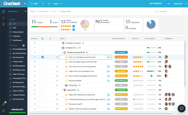 Bewertungen OneDesk: Helpdesk- und Projektmanagement-Software - Appvizer