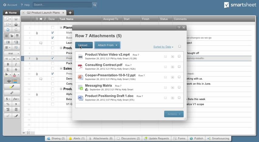 Smartsheet: Planung, Überwachung der Fortschritte, Benutzerverwaltung