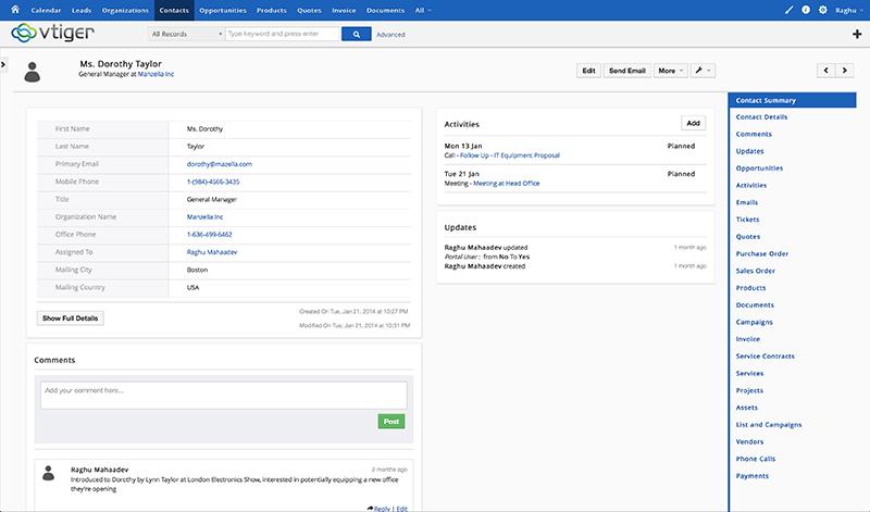 Vtiger CRM Webseite (Plugin, Form), Visualisierung und Projektverfolgung, Umsatzprognose