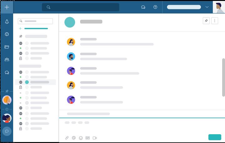 Die integrierten Projekt-, Gruppen- und privaten Chats von Taskworld machen es einfach, mit Ihrem Team in Kontakt zu bleiben - auch wenn Sie vom anderen Ende der Welt aus arbeiten.