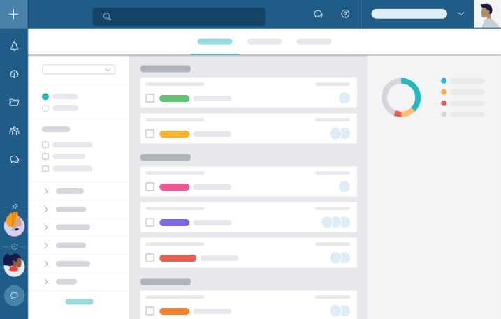 Mit dem interaktiven Dashboard der Übersichtsseite können Sie sich einen Gesamtüberblick verschaffen oder in die Details eintauchen. Filtern Sie nach relevanten Infos und konzentrieren Sie sich auf das Wesentliche.