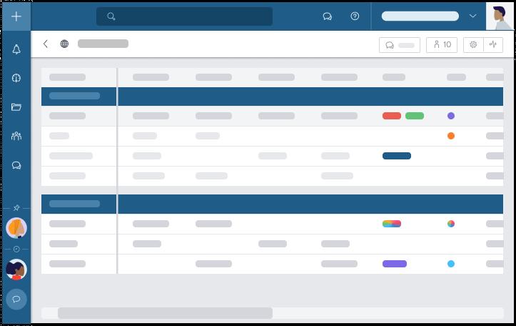 Die personalisierten Filter der Tabellenansicht bieten Ihnen Layoutflexibilität für die vertiefte Aufgabenverwaltung in jedem Projekt und lassen Sie produktiver arbeiten.