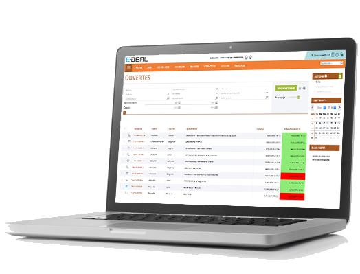 E-DEAL SERVICE Management von Anforderungen, Ansuchen mit Warnsystems