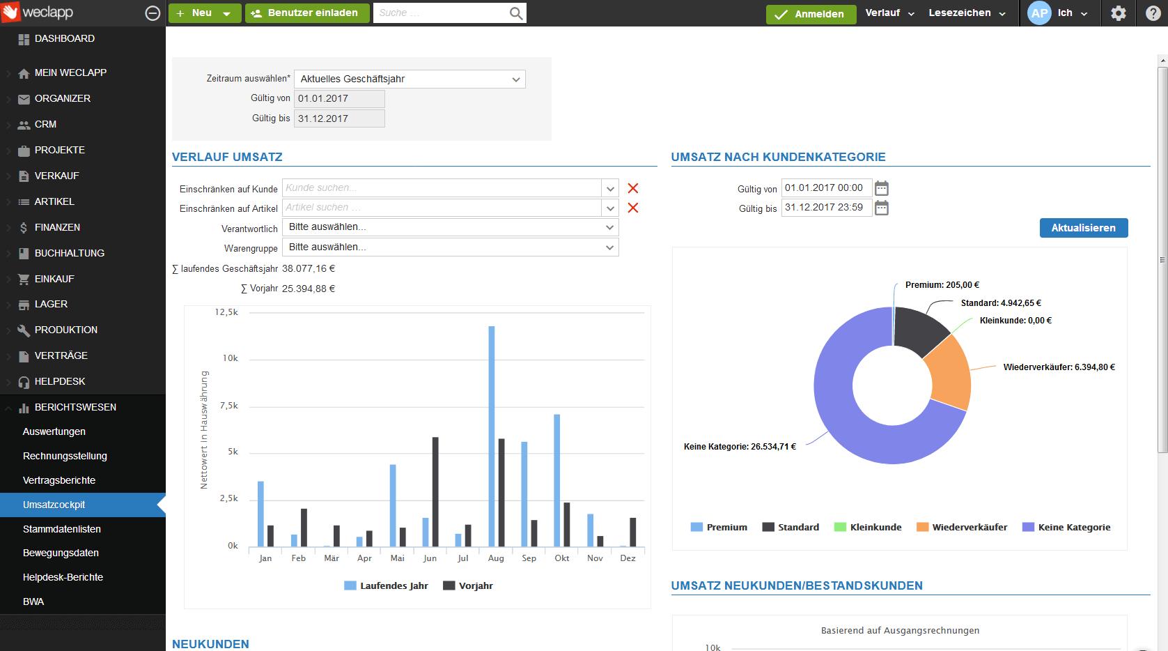 Bewertungen weclapp: Enterprise-Resource-Management - appvizer