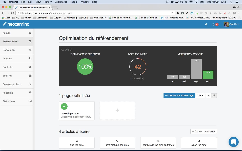 Search Engine Optimization durch Neocamino