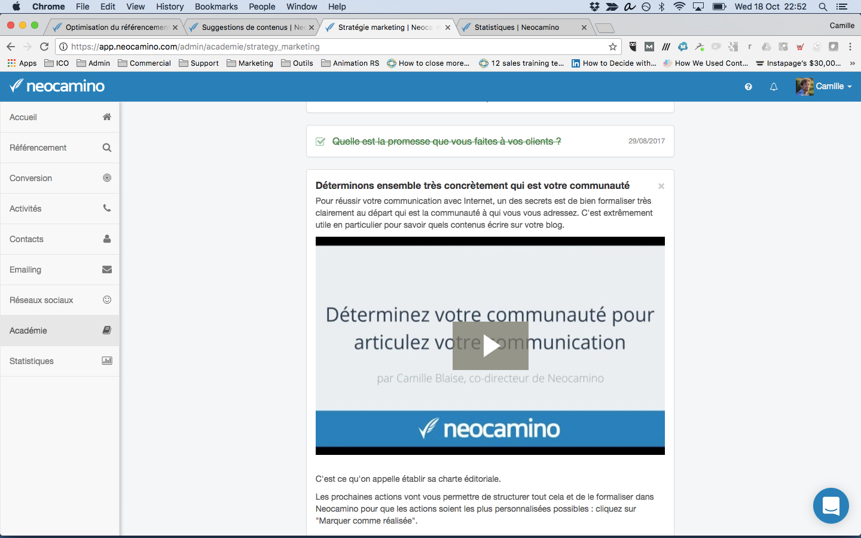 Neocamino Academy lernen alle notwendigen Marketing-Tools zu verwenden,