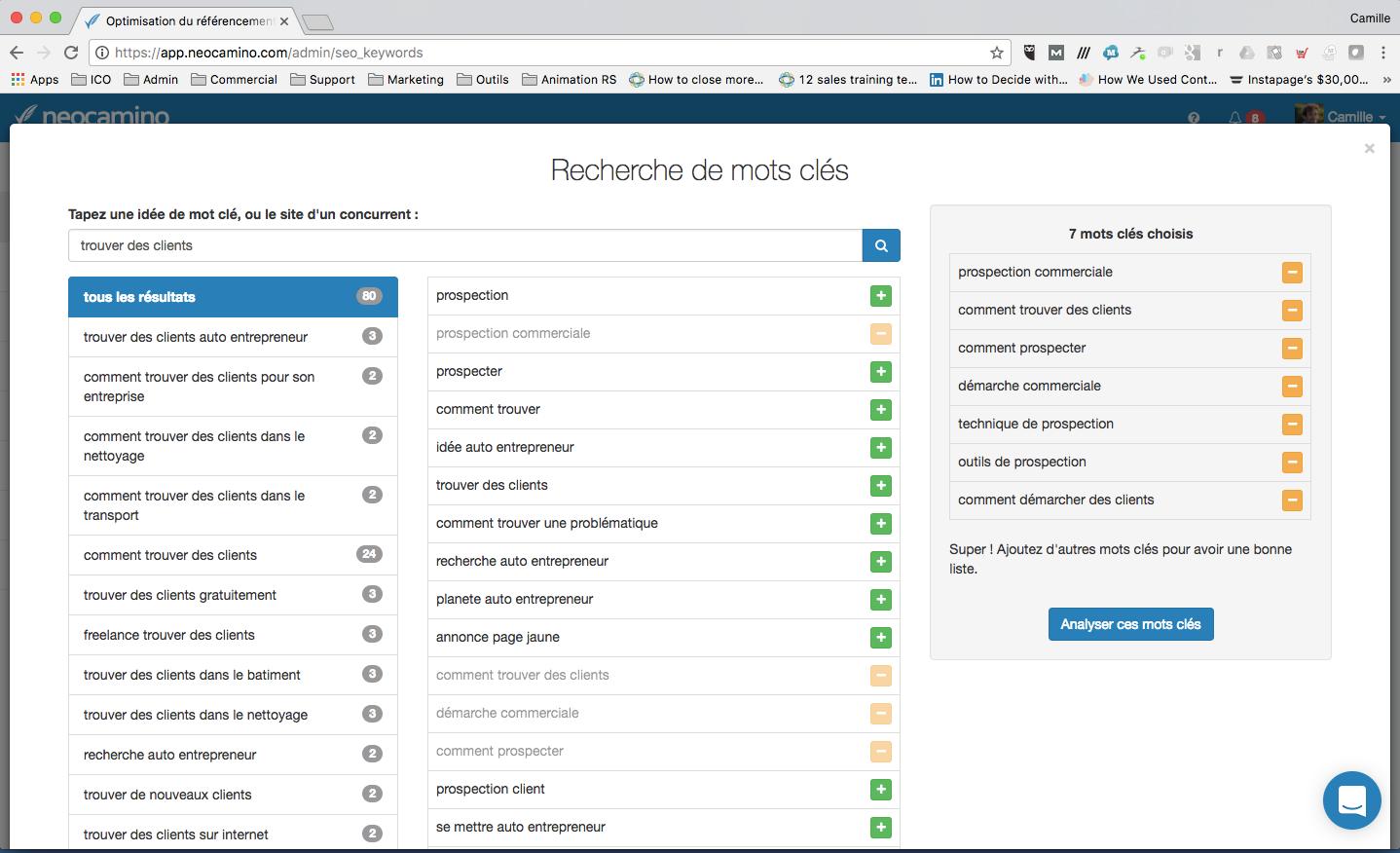 Analyse von Google-Such ihre Keywords und Seiten zu lokalisieren