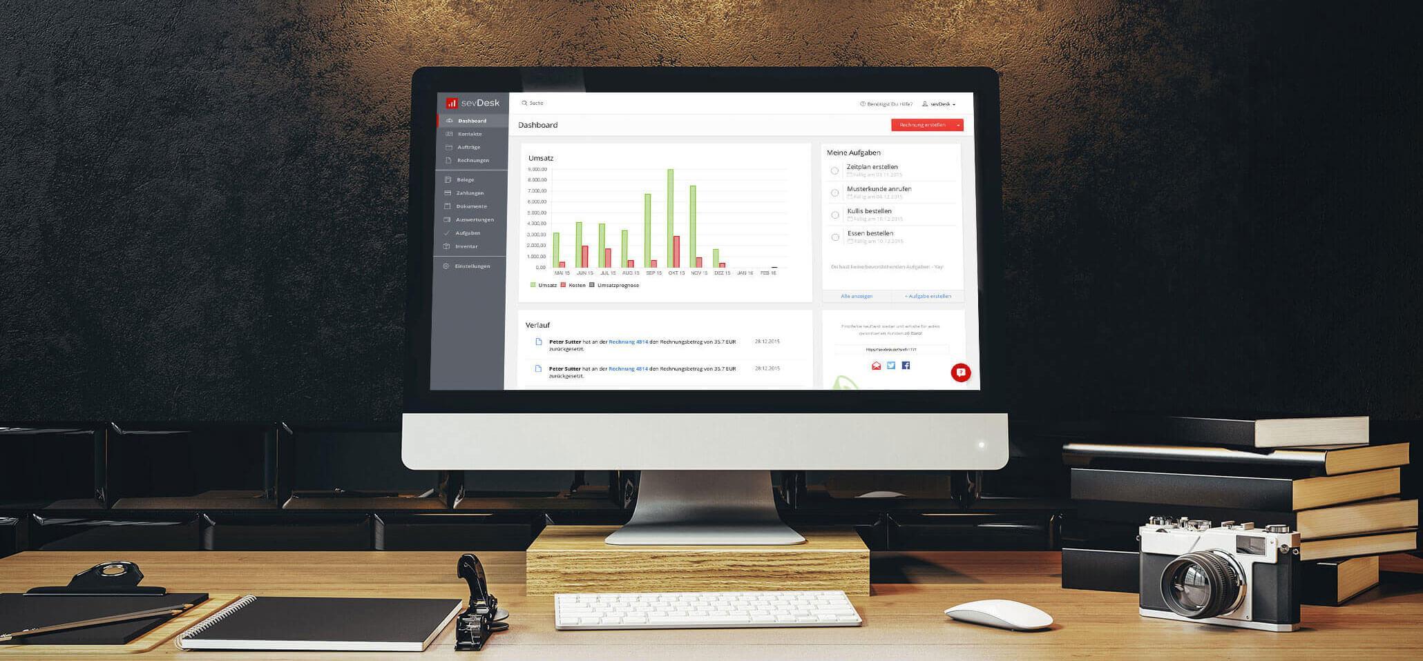 Bewertungen sevDesk: Online Buchhaltung, intuitiv und sicher - appvizer