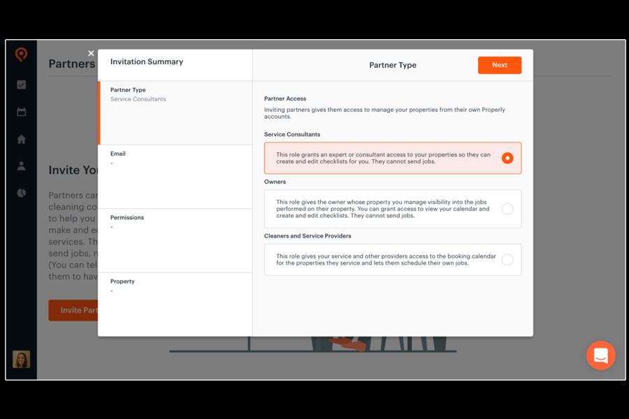 Collaboration-Tools Zugriff auf Ihre Eigenschaften zu teilen und Jobanforderungen mit Ihren Mitarbeitern, Partnern und Reinigungsmittel
