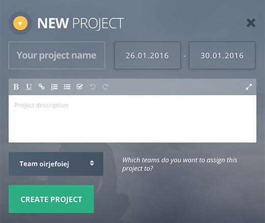 Erstellen eines neuen Projektes