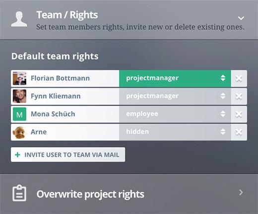 Rechtemanagement innerhalb der Teams