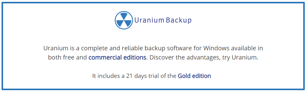 Bewertungen Uranium Backup: Professionelles Cloud Backup-Tool - appvizer