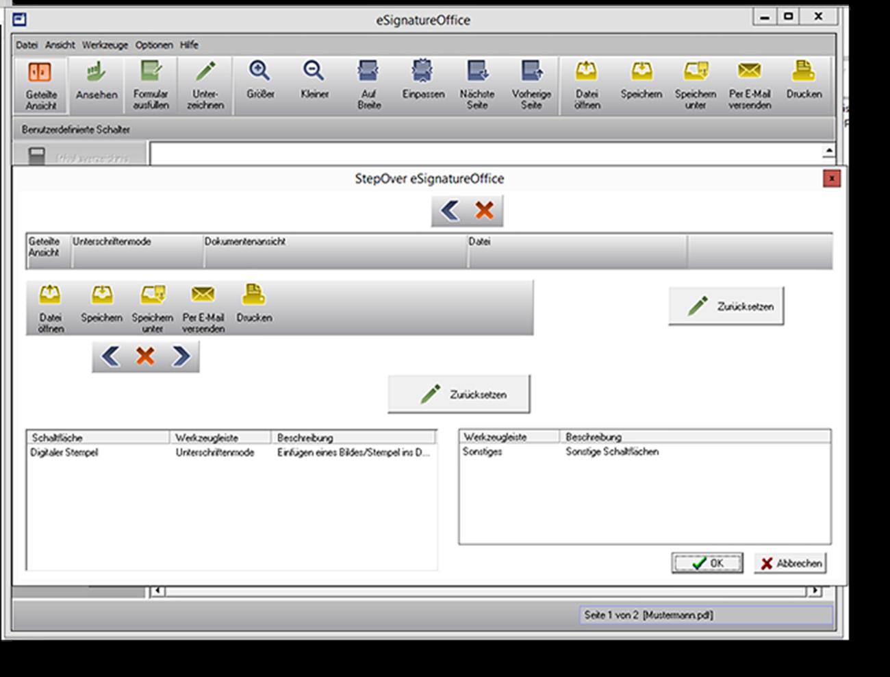 Trotz Standardanwendung - maximale Flexibilität  Nach der Unterzeichnung in eSignatureOffice kann das Dokument automatisch in der kundeninternen Bearbeitungskette weitergereicht werden.