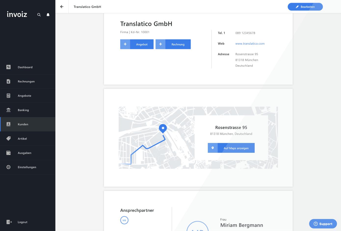 invoiz-Marketingseite_Kunden-Detail-View