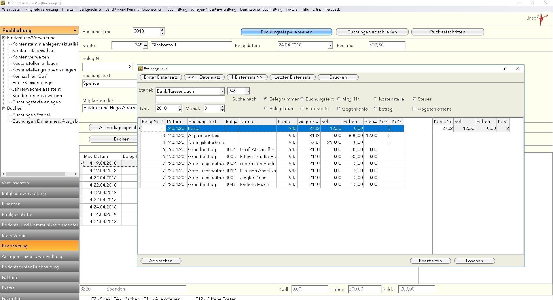 Bewertungen Linear: Die professionelle Vereinsverwaltungssoftware - appvizer