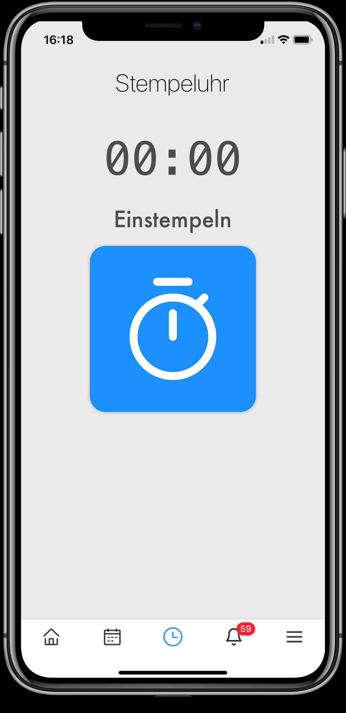 Stempeluhr per Smartphone