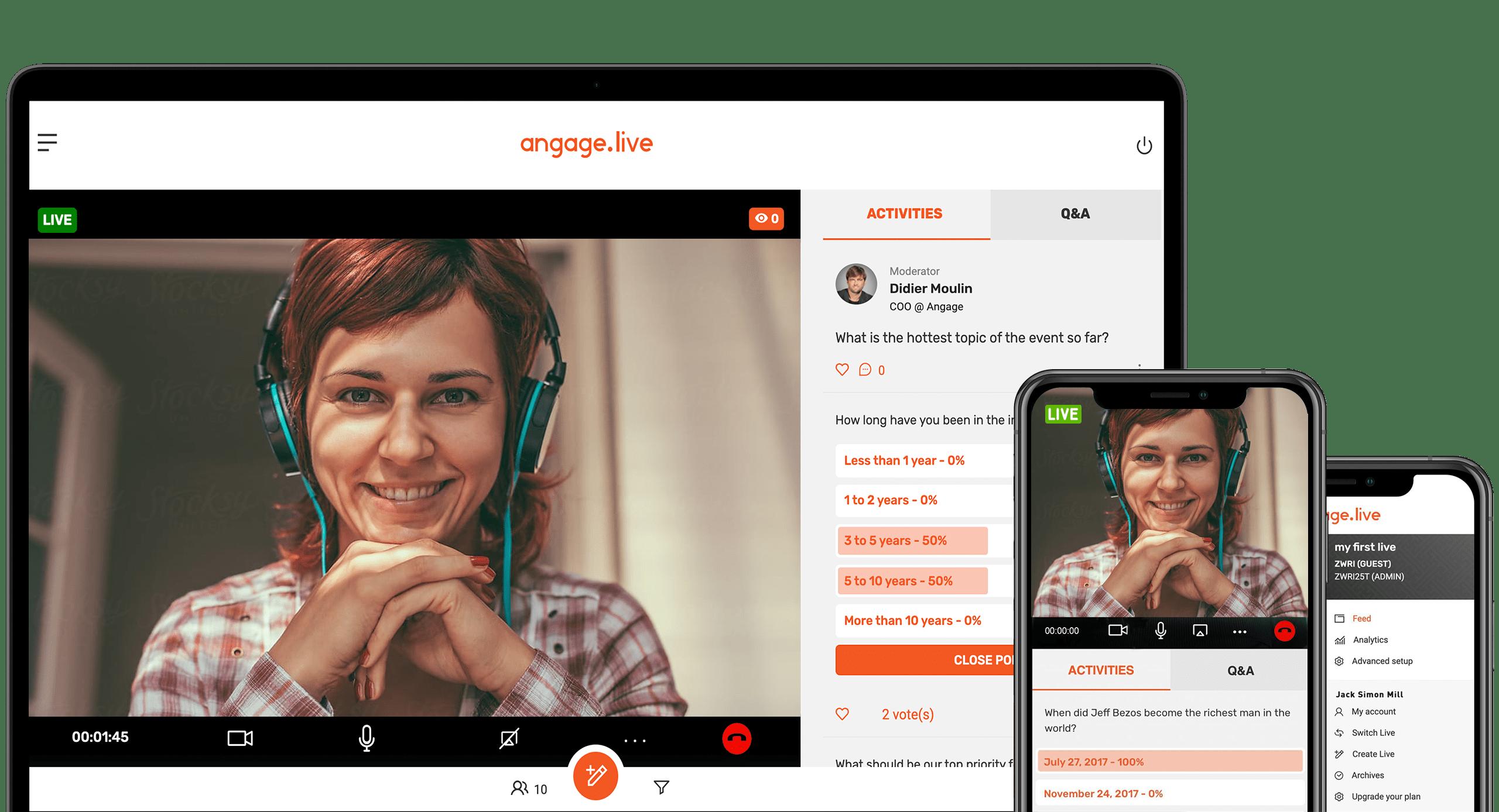 Bewertungen Angage Live: VIDEO, Q&A UND UMFRAGEN - Appvizer