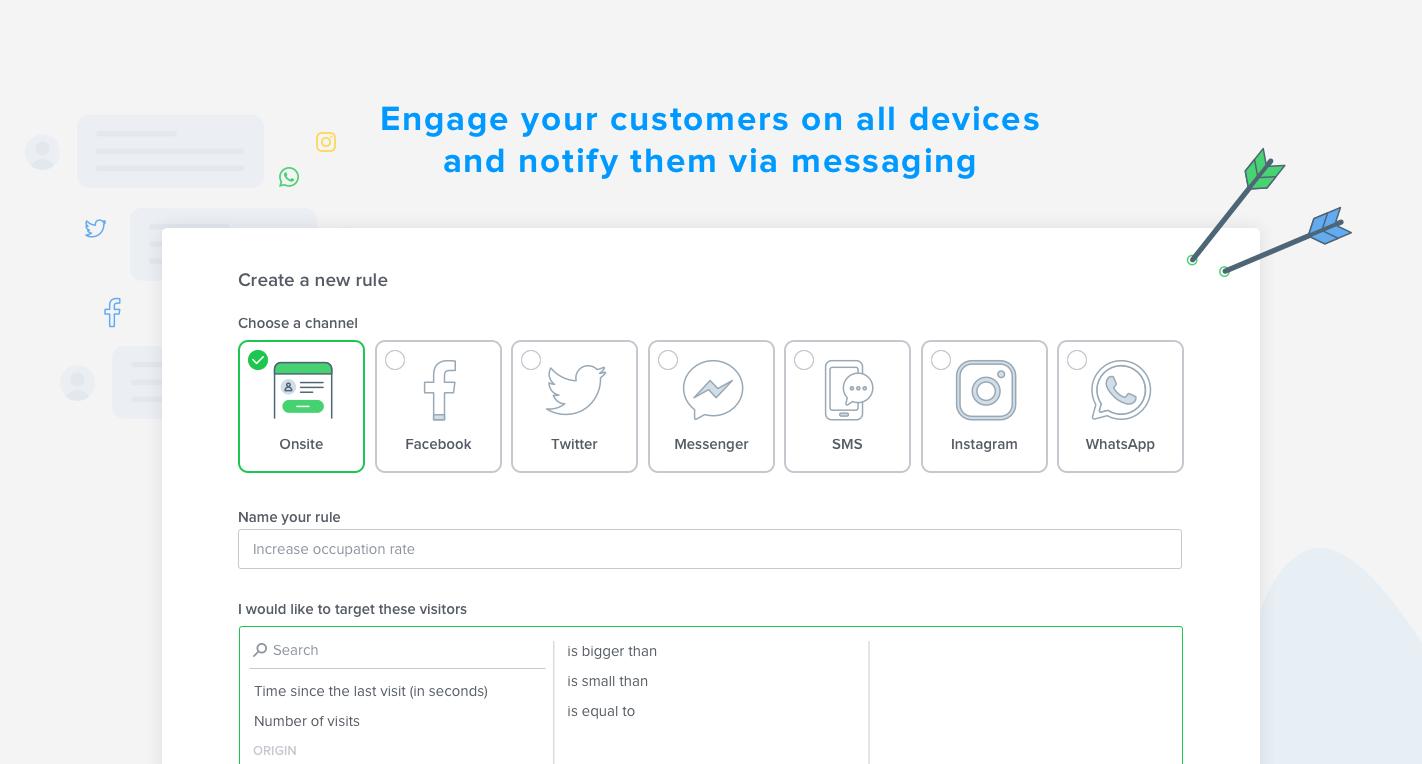 Wählen Sie den besten Kontaktkanal basierend auf dem Ziel und dann durch die Nachrichten drängen.