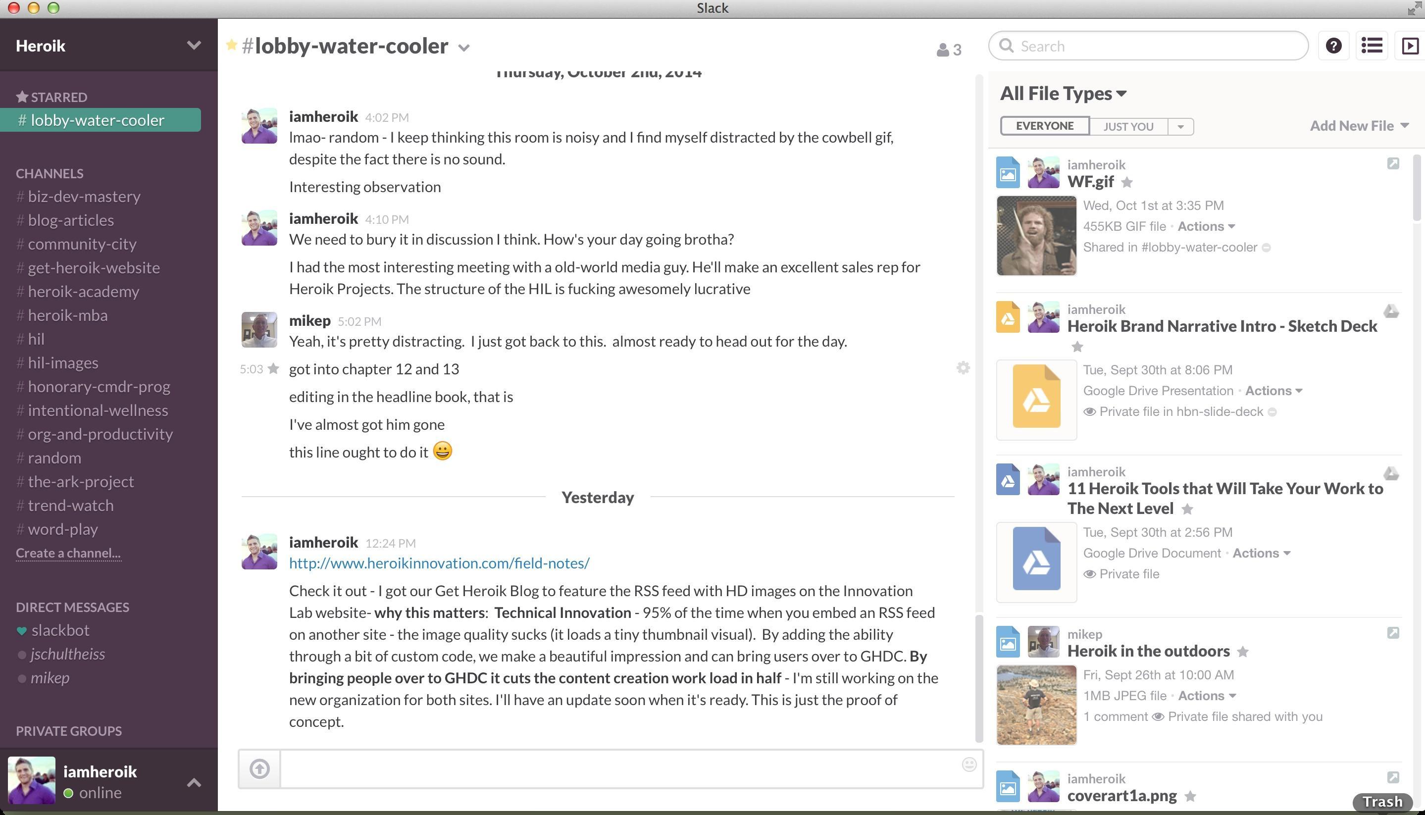 Slack: Instant Messaging (IM) unterstützt auch Mac OS