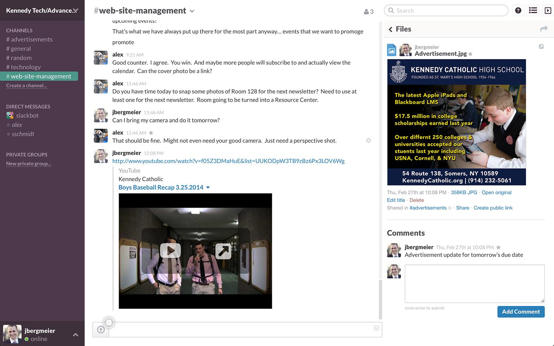 Slack: Gemeinsame Kontakte, Benachrichtigungen, Integration mit sozialen Netzwerken