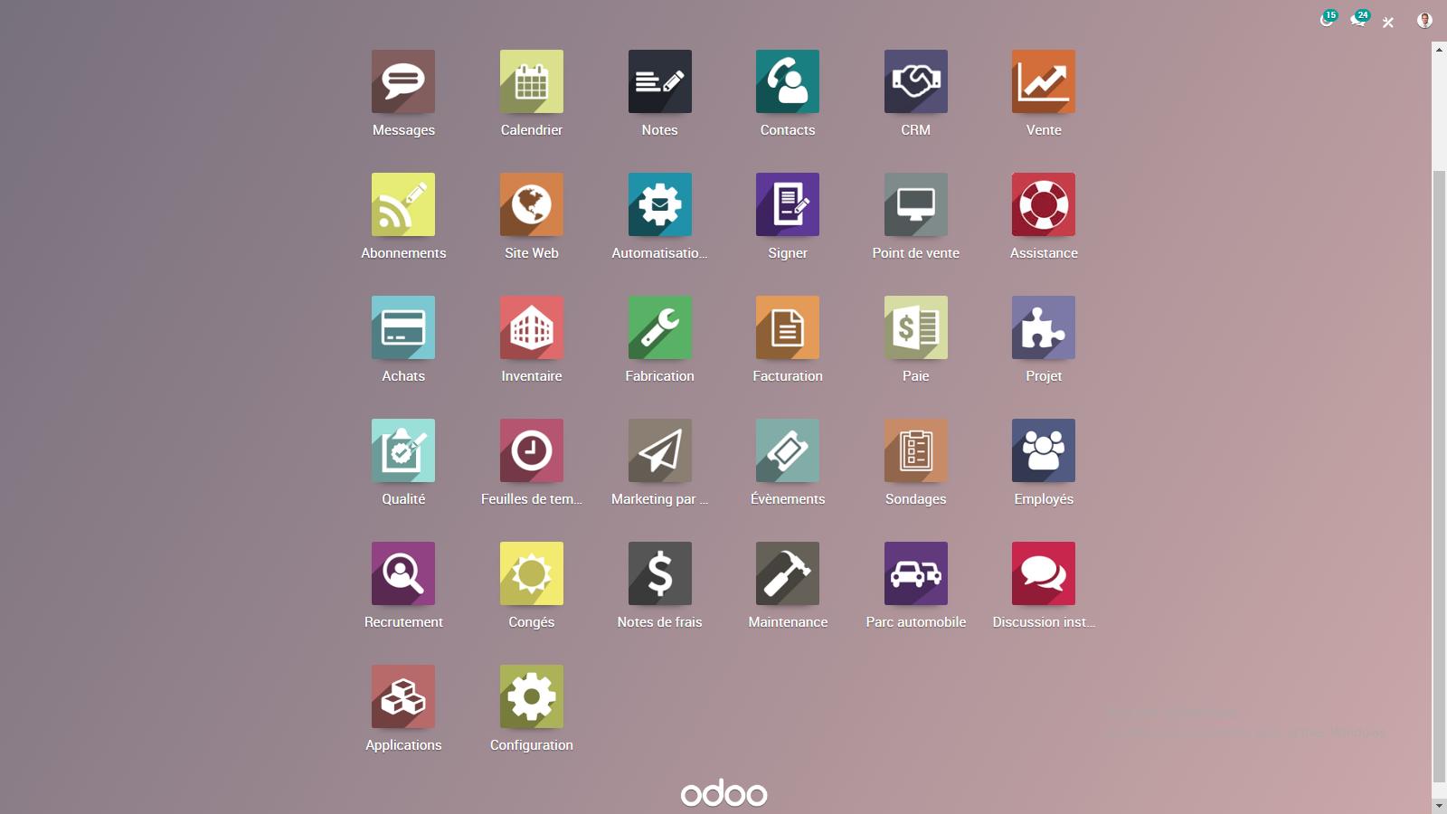 Odoo-DOdoo Accueil