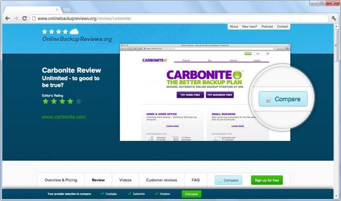 Carbonite: Sicherung auf NAS-Backup auf einem NAS, Automatic Backup