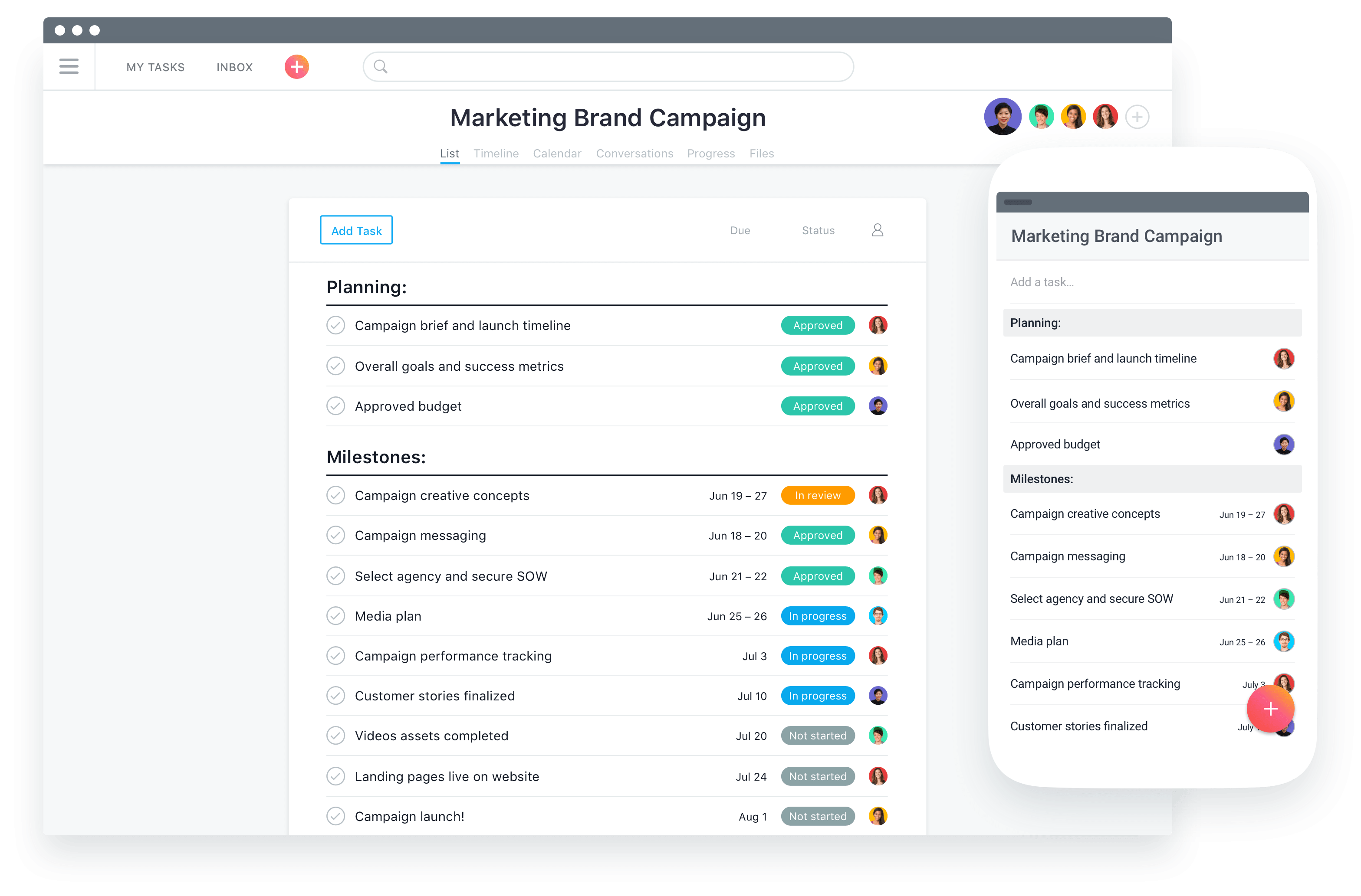 Asana Desktop-und mobile