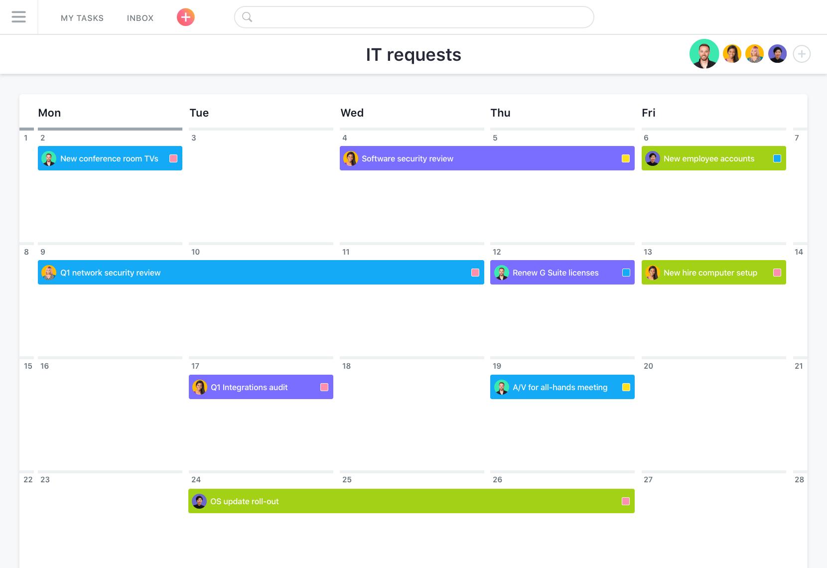 Asana Kalender, Asana: Single Sign-On (SSO), Task Manager, Import und Export von Daten (CSV, XLS)