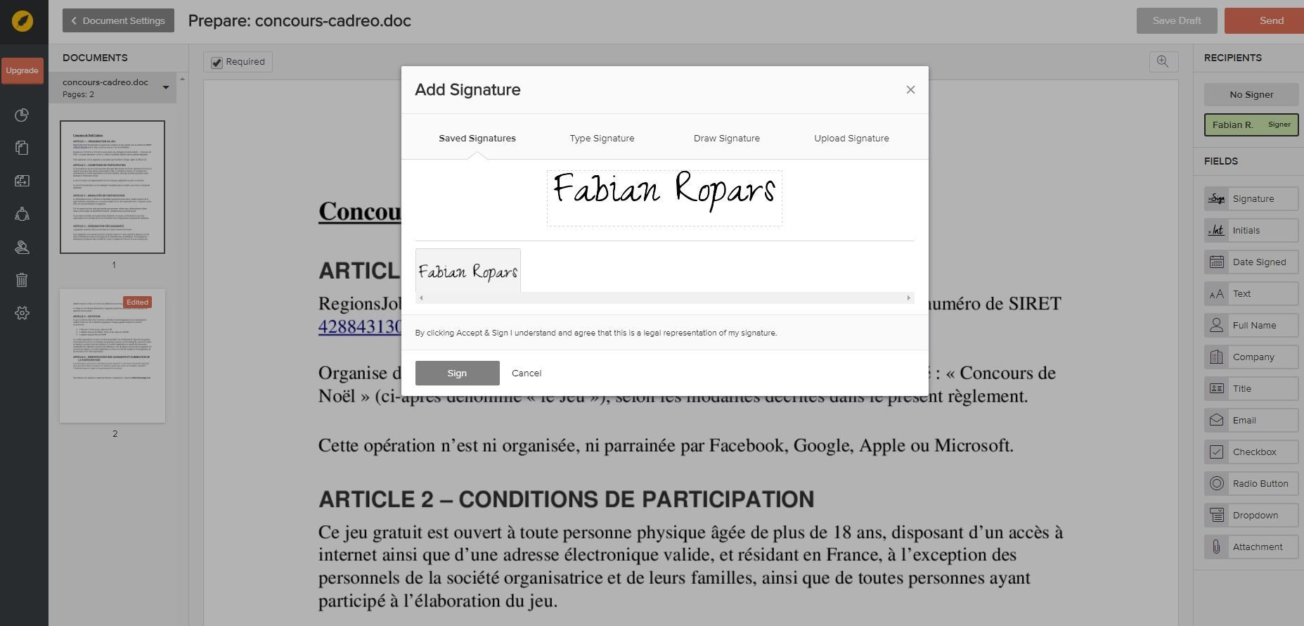 Bewertungen eversign: Die Lösung zur Verwaltung Ihrer elektronischen Signatur - appvizer
